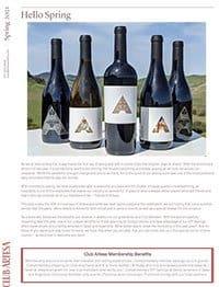 Club Artesa Spring Release Newsletter