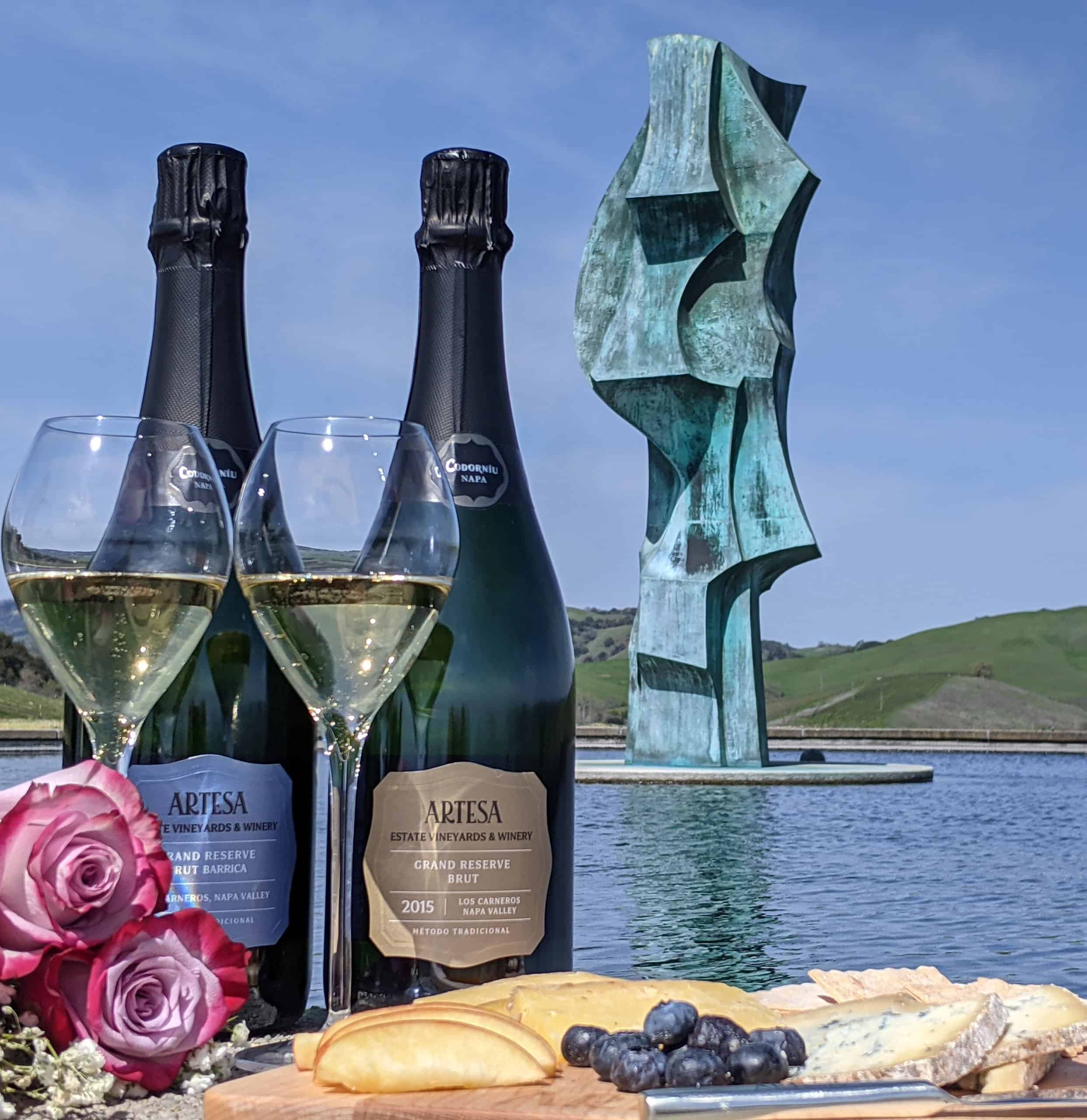 Artesa Winery Mother's Day Virtual Tasting Package - Sparkling Brut and Barrica with Cheese Plate
